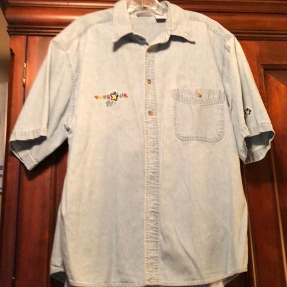 cba15d0152e8 Shirts | Vintage Denim Toys R Us Work Shirt Med Ss | Poshmark